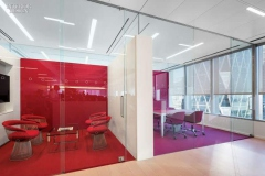 Colour coding to fit corporate brand with glass partitioning