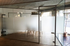Glass Partition with frosted glass for privacy