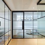 Glass Partitioning with Frosting for privacy